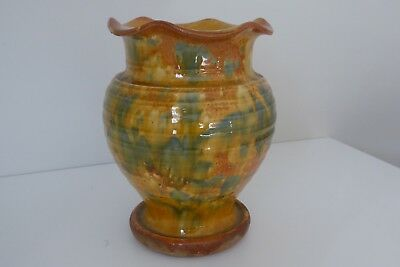 Very large old Ewenny Pottery vase