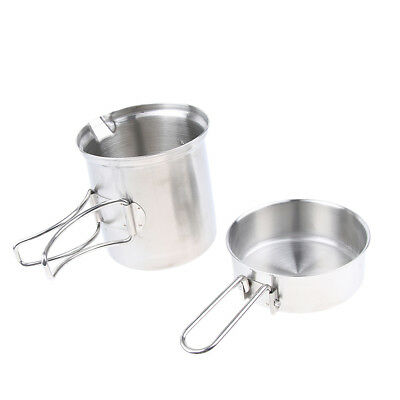 Camping Hiking Pot Set Cookware Cooking Stockpots with Travel Bag Picnic BBQ