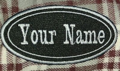 PERSONALISED-NAME-SCOOTER-BIKER-AIRSOFT-JEANS-Patches.  BADGES-TAG Iron/Sew on