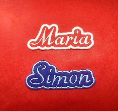 Personalised Embroidered Name Patch Badge  Your Name, Your Style, Your colour
