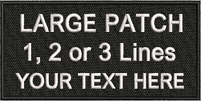 Personalised Name Patches Biker Airsoft Badges Embroidered Iron On Sew On Tag