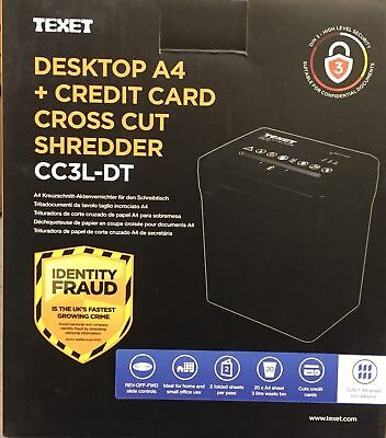 3L Electric Desktop Paper Shredder Cross Cut Shredding Cards Documents 3L New