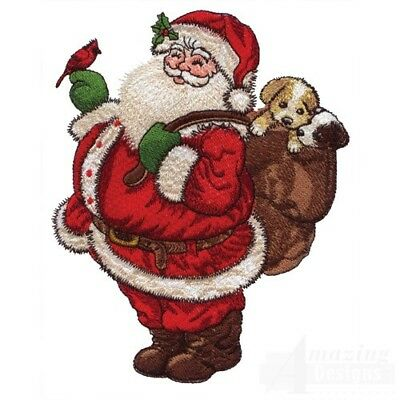 20 Santa Claus Collection Embroidery Designs Brother Janome PES JEF