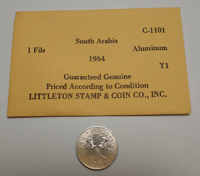 Vintage Coins South Arabia 1964: Littleton Stamp & Coin Co