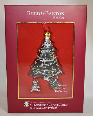 Reed & Barton MD Anderson Silver Plate Christmas Tree Ornament NIB