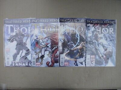 Thor - Shattered Heroes - #8,9,10,12  -  Marvel 1St Print - Mighty Thor