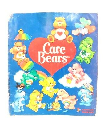 Vintage 80s Panini Care Bears Blue Sticker Book