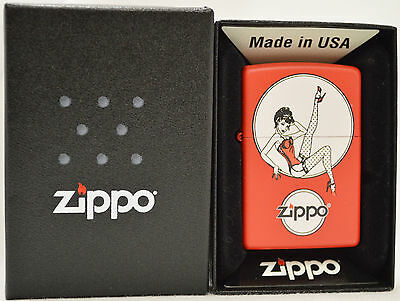 Zippo Retro Pinup in Red Matte Limited Edition.