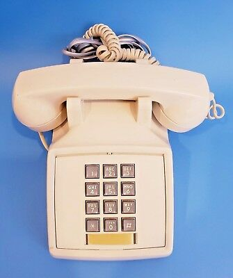 Vintage Telephone early 80's Northern Telecom Push Button beige touch tone