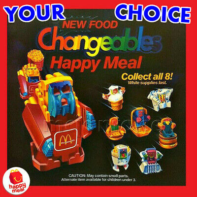 LOOSE McDonald's 1989 NEW FOOD CHANGEABLES Food ROBOT Transformer PICK UR TOY