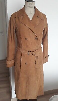 Daim Camel Cuir Taille Manteau S3638 Trench Zara orsQdChtxB