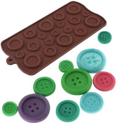 Various Size Buttons Reusable Silicone / Fondant Icing / Chocolate Mould