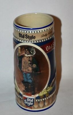 Old Style beer glass drink stein mug 1990 Limited Edition Heileman Brewery 21463