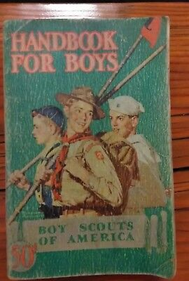 Books manuals boy scouts fraternal organizations historical 1942 boy scouts of america handbook for boys manual bsa first edition 35th print fandeluxe Images