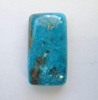 17.60 ct Stabilized Persian Turquoise Cabochon Gemstone with Pyrite, DH 116