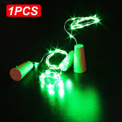 8E6A Copper Wire Wine Bottle Cork Battery Operated Fairy String Lights 20 LED