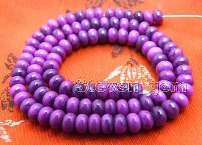 4*6mm Purple Rondelle Natural Sugilite Beads for Jewelry Making DIY Strand 15''