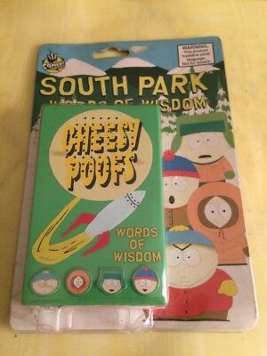 1998 Vintage South Park Words Wisdom Cheesy Poofs Voice Box Key Chain Spencer