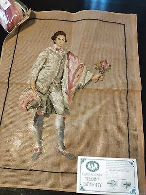 BRAND NEW QUEEN ADELAIDE Trammed TAPESTRY CANVAS & WOOL No. 561/1