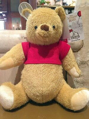 NWT Disney Christopher Robin Movie Plush Winnie the pooh Disney Store authentic
