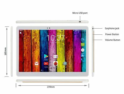 """1920*1200 10.1"""" ANDROID 7.0 TABLET 4G LTE OCTA Core Sim 4GB RAM GPS WIFI g"""
