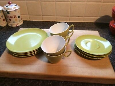 vintage retro melamine Plate, Saucer And Cup Set