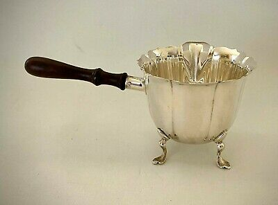 Vintage LUNT Sterling Silver Gravy Ladle w/ Wood Handle