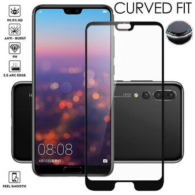 Full Cover Tempered Glass Screen Protector For Huawei P20/Lite/Pro/P10/P9/P8