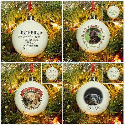 PERSONALISED Christmas Tree BAUBLE For DOG Cat Pet MEMORIAL Decoration Keepsake
