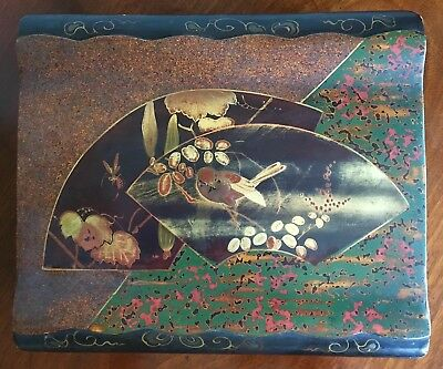 A Japanese Lacquered Wood Box. Meiji Period, Late 19th Century. 20cm Wide.