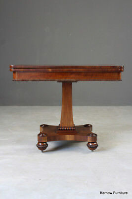 Antique William IV Mahogany Card Games Side End Occasional Table
