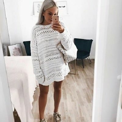 ac64f42c7 ZARA ECRU OVERSIZED Cable-Knit Sweater With High Neck Size M 12 14 ...