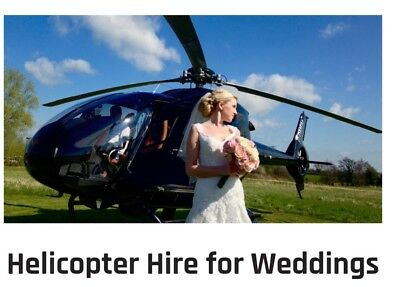 Helicopter Hire For Weddings Anywhere in United kingdom.  Gift vouchers