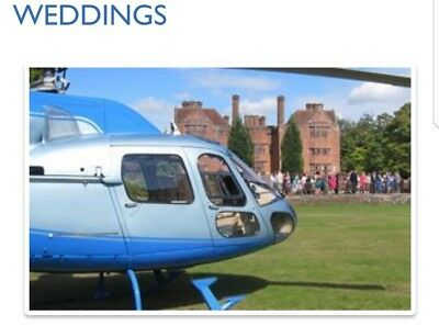 Wedding Special . Helicopter Hire For Weddings Anywhere in UK .  Gift vouchers