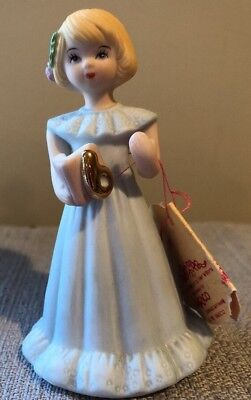VINTAGE 1981 ENESCO GROWING UP GIRLS 6TH Birthday PORCELAIN BLONDE HAIR FIGURINE