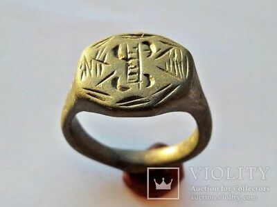 ANCIENT Medieval Bronze Ring 13-16 century AD