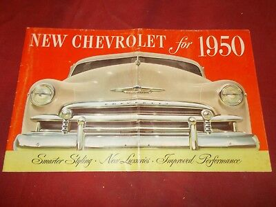 1950 Chevrolet Original Sales Brochure!!