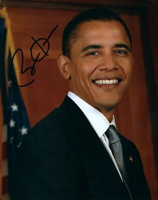 Barack Obama authentic signed autographed 8x10 photograph holo COA