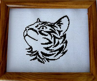 TRIBAL CAT SILHOUETTE Cross Stitch Pattern, Easy To Follow, Free Uk Postage