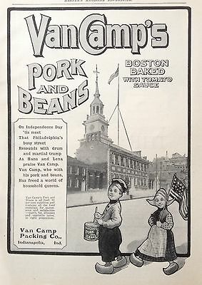 1904 Ad (F20)~Van Camps Pork And Beans, Boston Baked With Tomato Sauce