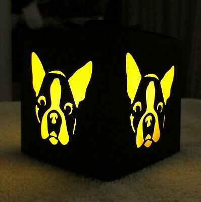 Boston Terrier LED Flameless Candle Luminary Gift