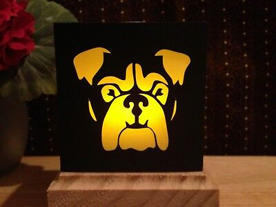 Bulldog Gift LED Flameless Candle Luminary Gift
