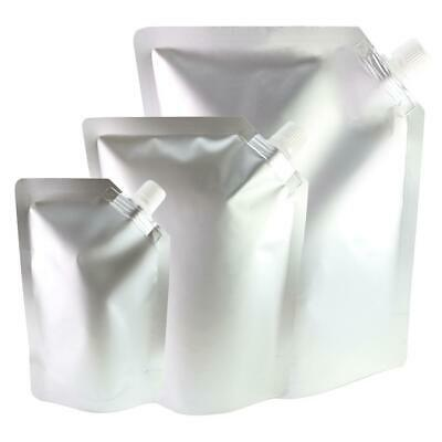 1,000 ml New Heavy Duty Beverage Pouch Packaging Bags (Comes With 1 Funnel)