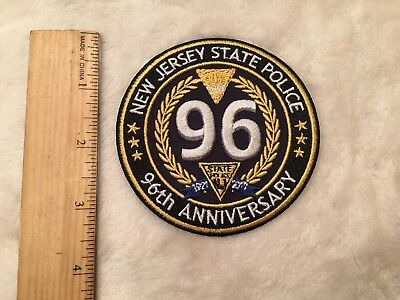1921-2017 96th Anniversary New Jersey State Police Patch NJSP