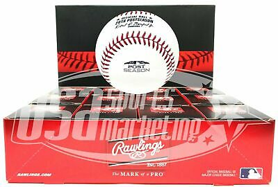 (12) Rawlings 2018 Postseason Game MLB Official Game Baseball Boxed - Dozen