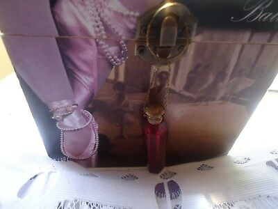 Antique Chatelaine Red Glass hanging glass perfume scent bottle