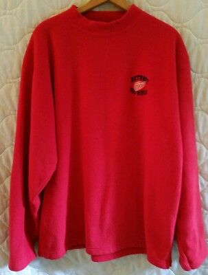 f09c8f7fc 90 s Rare Vintage Pro Edge NHL Detroit Red Wings Red Fleece sweatshirt Size  XL