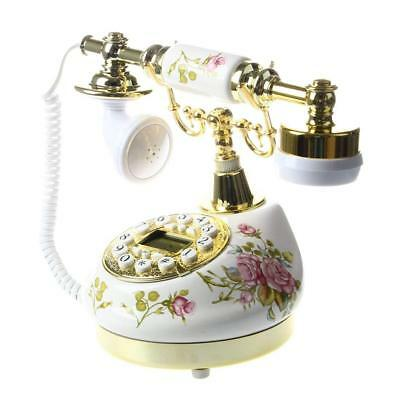 New Deluxe Corded Vintage Telephone Retro House Phone Classic Style Ringer UK