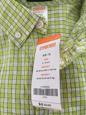GYMBOREE Boys Plaid Button Down Shirt Small (5-6) Multicolored NWT MSRP 29.95