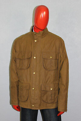 Mens Barbour New Utility Waxed Jacket Brown Size EX Large A418